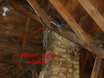 picture of needed chimney repair