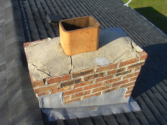 picture of damaged chimneys