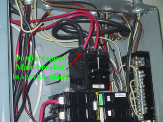 picture of bad breaker panel